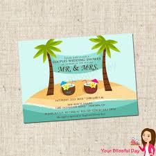 despedida invitation printable beach couples wedding shower party invitation 801