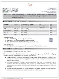 Example Of Accountant Resume by Best Chartered Accountant Resume Sample Doc With Experience 1