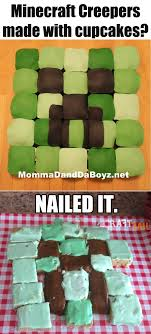 minecraft cupcakes crummy minecraft creeper cupcakes craftfail