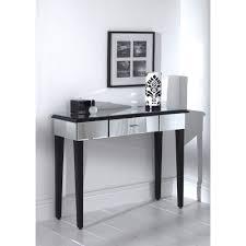 Quartz Console Table Console Tables Quartz Mirrored Console Table Black Metal Quartz
