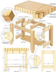 butcher block island woodworking plans woodshop plans