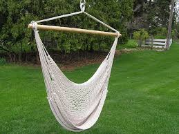 deluxe extra large white cotton hammock swing chair ebay