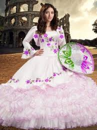 floor length ball gowns long sleeves white 15 quinceanera dress