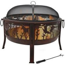 Metal Firepit Wood Burning Pits Steel Cast Iron Copper All Sizes