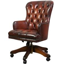 Leather Queen Anne Chair Queen Anne Swivel Chair Desk Chairs From Brights Of Nettlebed