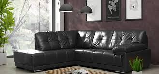 Large Black Leather Corner Sofa Maxim Corner Lhf Black Leather Corner Sofas Sofas