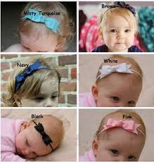 newborn hair bows infant headband ribbon bows headbands for baby thin elastic