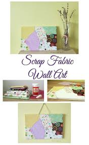 scrap fabric wall art home crafts by ali