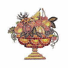Mosiac Vase Italian Mosaic Vase With Fruits Painting By Irina Sztukowski