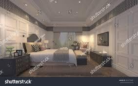 luxury sleeping room 3d design stock illustration 359771465