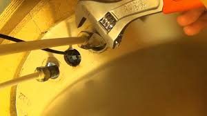 replace kitchen sink faucet how to replace a sink faucet locknut youtube