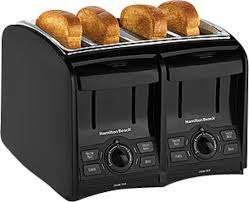 Coolest Toasters Hamilton Beach Perfecttoast 4 Slice Wide Slot Toaster Black 24121