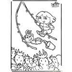 dora029s coloring page free dora the explorer coloring pages