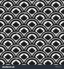 trellis beautiful oriental tiled black white stock vector