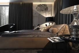 cool dark bedroom design ideas gray rug and white wall an