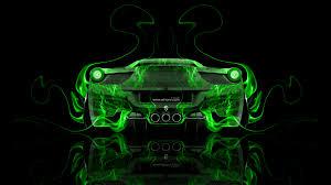 Ferrari 458 Green - ferrari 458 italia back fire abstract car 2014 el tony