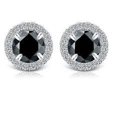 black diamond studs 77 best diamond earrings images on diamond earrings