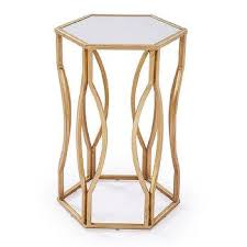 Hexagon Side Table Gold Hexagon Side Table Products Bookmarks Design Inspiration