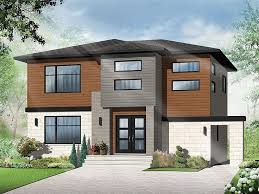 contemporary home plans 2 story contemporary house plan for a