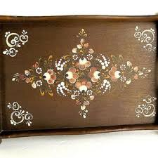 painted serving platters shop painted wood trays on wanelo