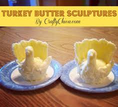 turkey butter sculptures thanksgiving