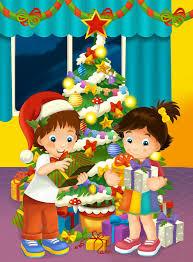 imagenes de navidad hermana escena de la feliz navidad con el hermano y la hermana que toman