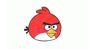 how to draw an angry bird step by step red bird youtube