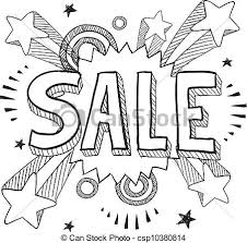 doodle drawings for sale sale icon sketch doodle style sale icon on retro pop vector