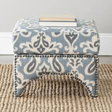Safavieh Amelia Tufted Storage Ottoman Seating Teal