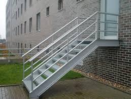stahl treppe außen idee stahltreppe home design ideen
