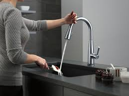 touch technology kitchen faucet faucet com 9113t ar dst in arctic stainless by delta