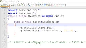 font color setcolor in java applet hindi youtube