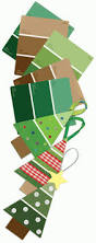make christmas trees out of paint sample strips knutsels