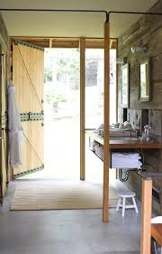 Bathroom In The Kitchen Minimalist Guest Oriented Barn Conversion By Shed Architecture