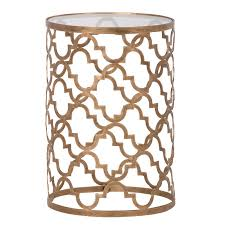 gold metal side table gold metal side table apartment pinterest moroccan side table