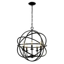 Home Depot Bronze Chandelier Bel Air Lighting 5 Light Rubbed Oil Multi Ring Orb Bronze