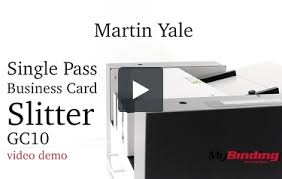 yale business card martin yale single pass business card slitter gc10