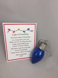 friendship ornaments glittered glass light bulb ornament