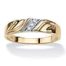 wedding band ring men s diamond accent 18k gold sterling silver diagonal