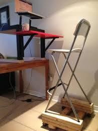 stevo id combo norberg standing desk with ikea franklin barstool
