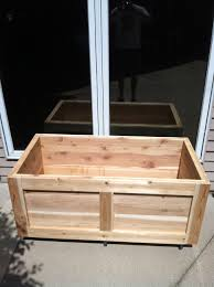 Backyard Planter Box Ideas Cedar Wood Movable Garden Planter Box 48
