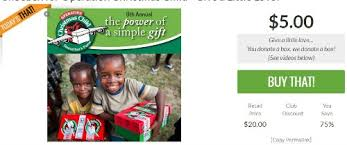 operation child donate a 5 box they ll match it