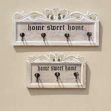 home sweet home decorations wooden letters hollow storage white wall hook clothes key holder