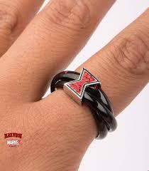 widow wedding ring marvel ring black widow stainless metal