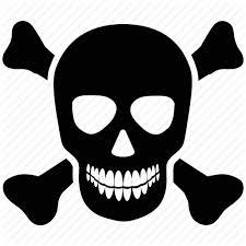 bones cross bones danger jolly roger skull icon icon