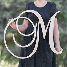 sale 12 36 inch single letter curved font wooden