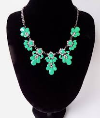 green fashion necklace images Bright green rhinestone black chain fashion necklace lady laila jpeg
