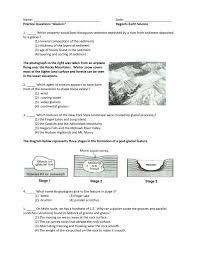 Mohs Hardness Scale Worksheet Name Date Practice Questions U201cglaciers U201d Regents Earth Science 1