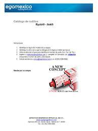 catalogo rodillos ryobi itek