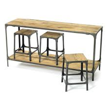 Console Bar Table by Rustic Industrial Distressed Console Table And Made From Reclaimed